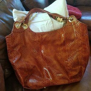 Steve Madden tortoise satchel purse